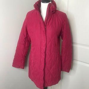Pink puffer heavy winter jacket small 4/6 ski coat